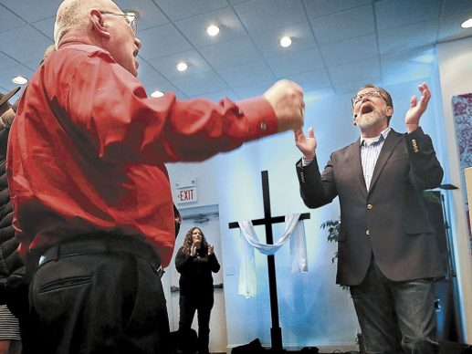 Grace Downtown church celebrates new beginnings at new home on Easter