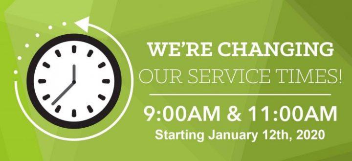 New Sunday Service Times!