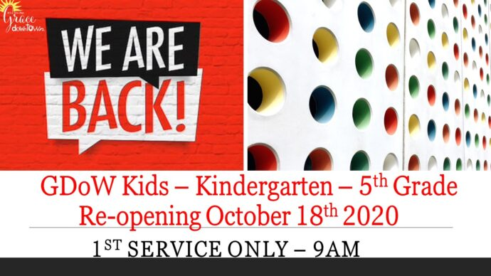 Kids Ministry is Back!