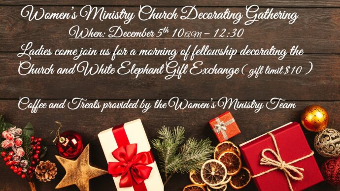 Women's Ministry Church Decorating